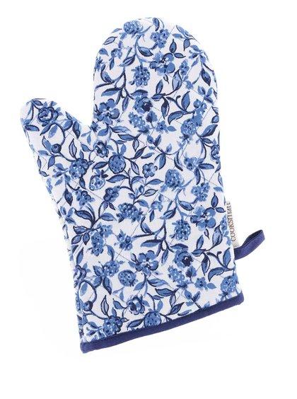Modro-bílá květovaná chňapka Cooksmart Secret Garden