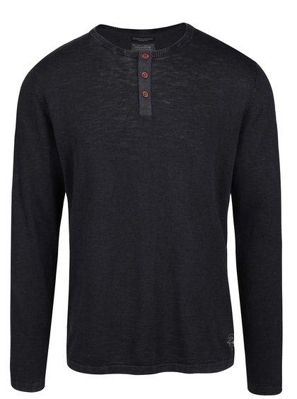 Modročerné žíhané triko s dlouhým rukávem Jack & Jones Bray