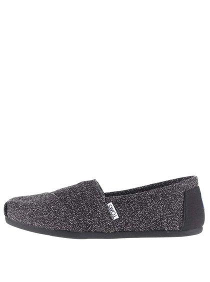 Černé dámské žíhané loafers TOMS