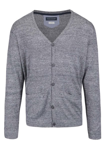 Cardigan gri Jack & Jones Duncan cu model discret