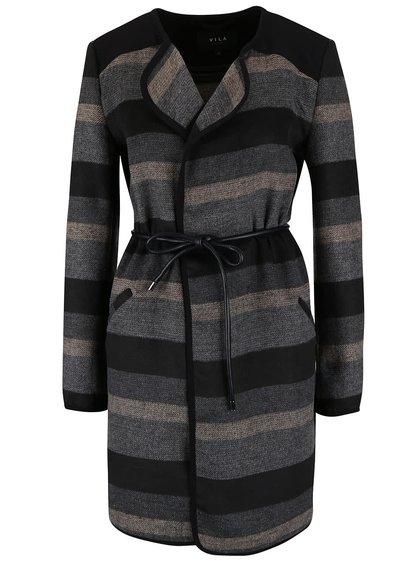 Jachetă lungă VILA Vallo în dungi