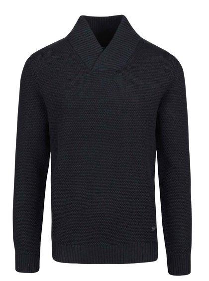 Tmavě modrý svetr s límcem Jack & Jones Tobias