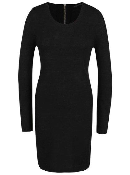 Černé šaty s dlouhým rukávem ONLY New Hayley