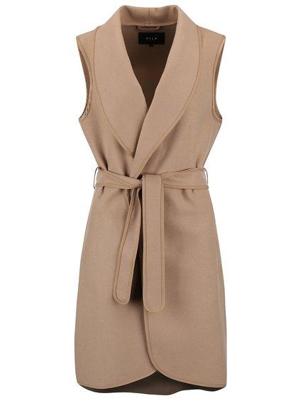 Béžová kabátová vesta VILA Ida