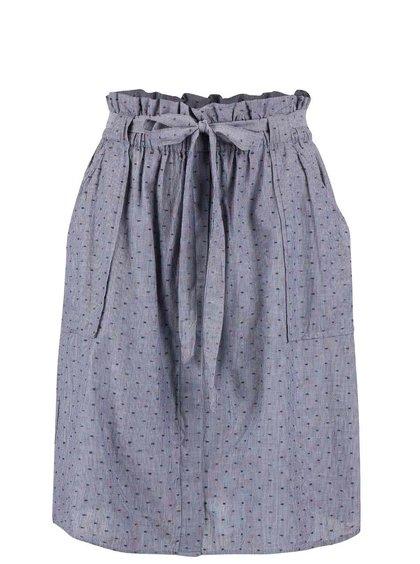 Šedomodrá sukně s páskem a kapsami VILA Dotta