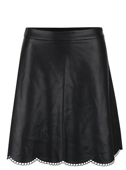 Černá koženková sukně VILA Fap