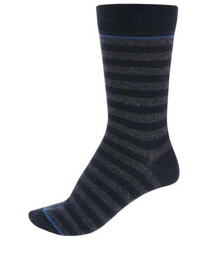 Tmavomodré pruhované ponožky Jack & Jones Belair III.