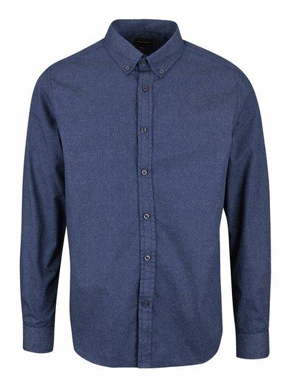 Tmavě modrá pánská puntíkatá košile Broadway Nestore
