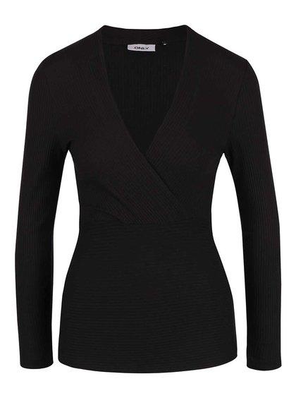 Bluză cu mâneci lungi ONLY Mia neagră