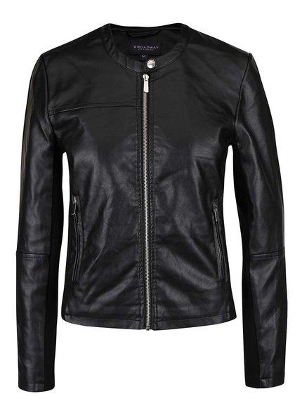 Jachetă neagră Broadway Dacia din piele sintetică