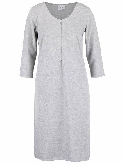 Světle šedé kojicí šaty se zipem Mama.licious Aina