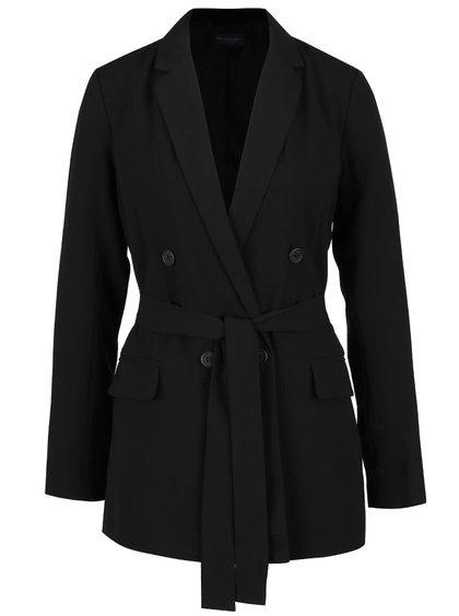 Černý dámský kabát s páskem Broadway Noela