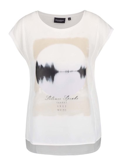 Krémové dámske tričko s potlačou Broadway Olivine