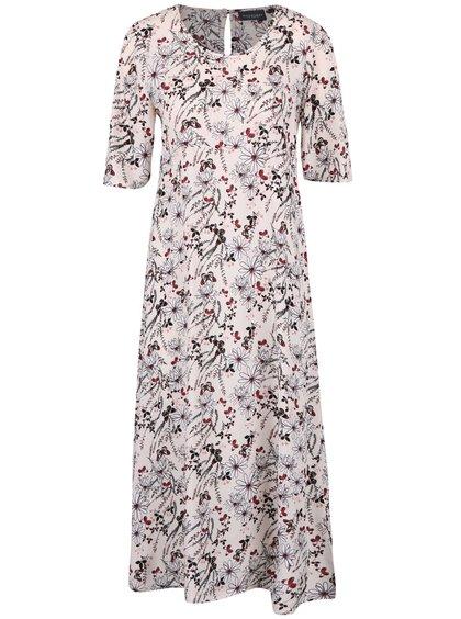 Krémové květované šaty Broadway Ouida