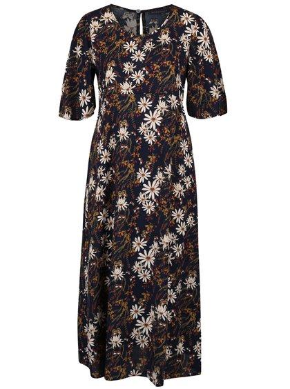 Tmavě modré květované šaty Broadway Ouida