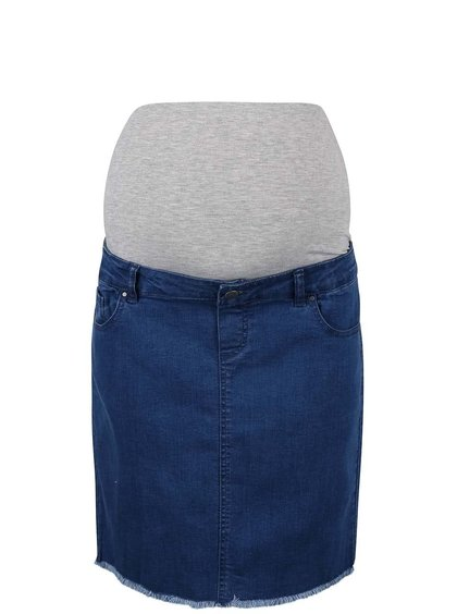 Modrá rifľová tehotenská sukňa Mama.licious Crista