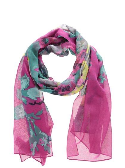 Tmavě růžový šátek s květovaným vzorem Tom Joule Wensley