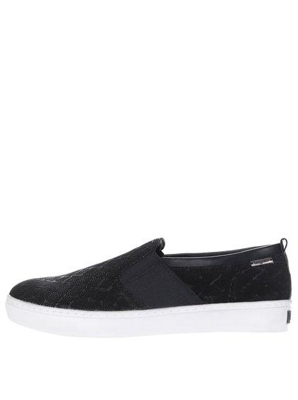 Pantofi sport slip-on negri din piele bugatti pentru femei