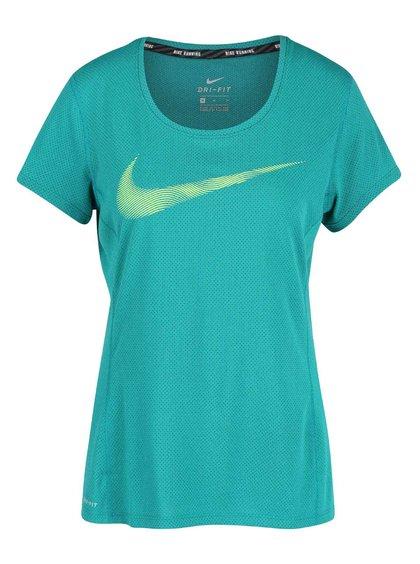 Zelené dámské funkční tričko Nike Dry Contour