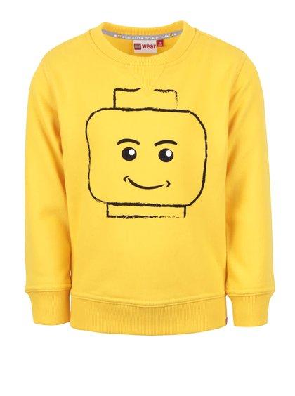 Žlutá klučičí mikina s motivem LEGO Wear Skeet