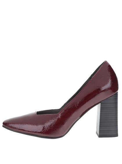 Pantofi cu toc Tamaris vișinii
