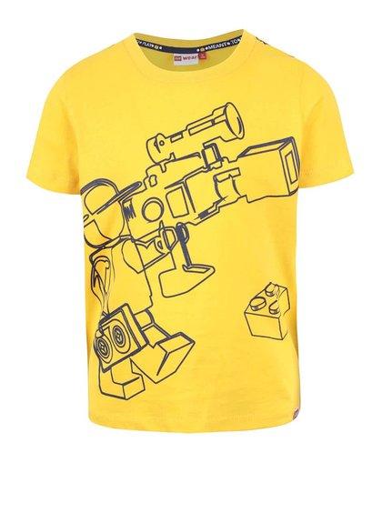 Žlté chlapčenské tričko s potlačou LEGO Wear Tony
