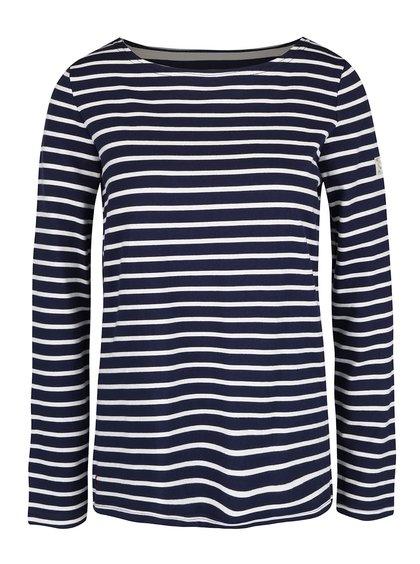 Tmavomodré dámske pruhované tričko s dlhým rukávom Tom Joule Harbour