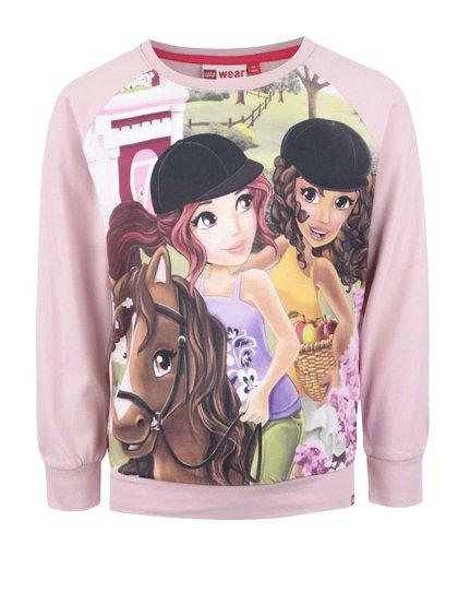 Bluză roz LEGO Wear Tamara cu imprimeu