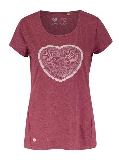 Tricou roșu Ragwear Sugar a organic cu print