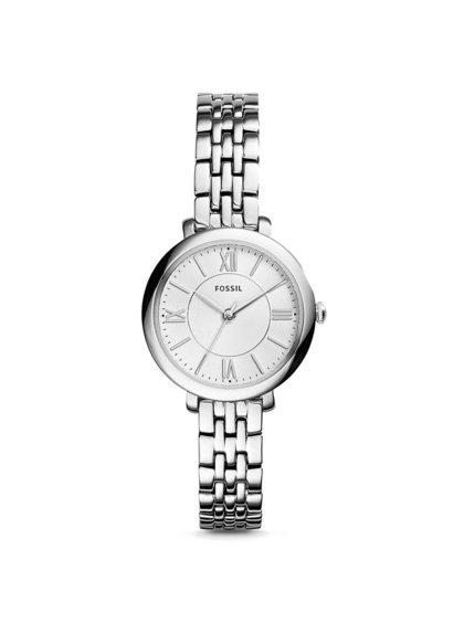 Dámské hodinky s tenkým řemínkem ve stříbrné barvě Fossil