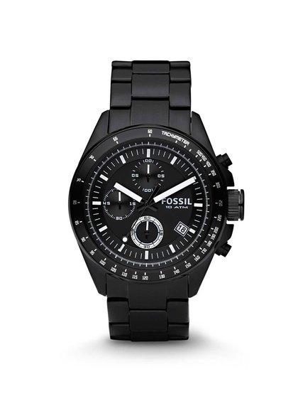 Černé pánské hodinky Fossil