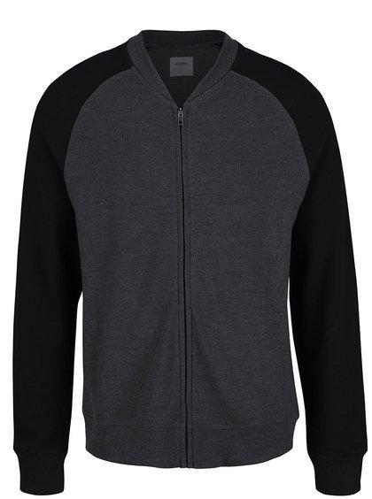Bluză sport negru cu gri Menswear London