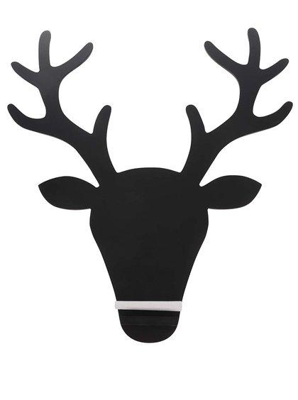 Černá tabule ve tvaru jelena Sass & Belle