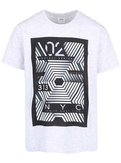 Sivé tričko s potlačou Burton Menswear London