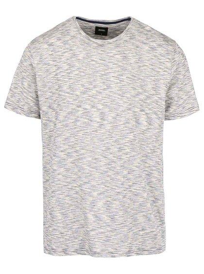 Modro-krémové žíhané triko Burton Menswear London
