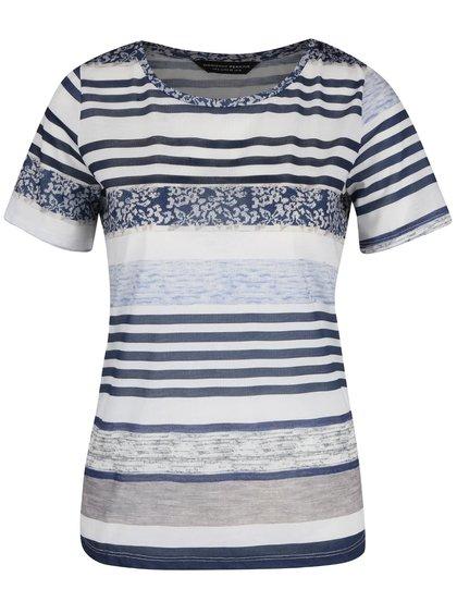Krémovo-modré pruhované tričko Dorothy Perkins