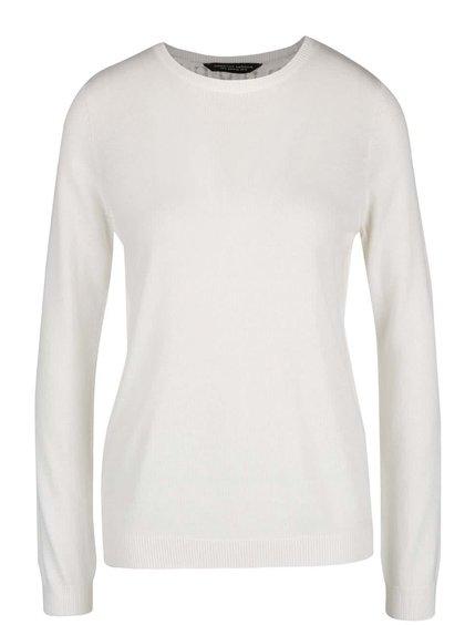 Krémový sveter s čipkou a rozparkom na chrbte Dorothy Perkins