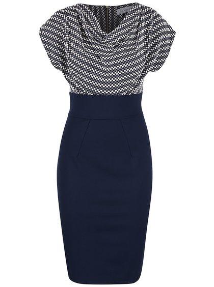 Tmavě modré šaty se vzorovaným topem Closet