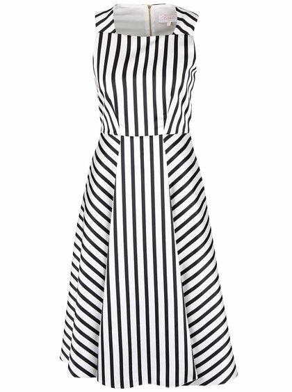 Rochie cu imprimeu cu dungi Closet alb cu negru