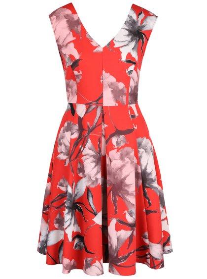 Rochie cu imprimeu floral Closet roșie