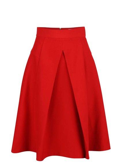 Červená sukně do pasu Closet