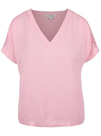Tricou roz Miss Selfridge cu decolteu în V