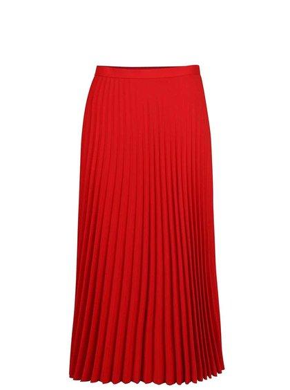 Červená plisovaná midi sukně Dorothy Perkins