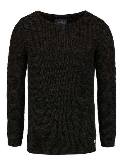 Šedo-zelený pletený svetr Blend