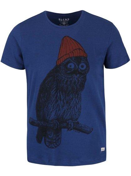 Modré tričko s potlačou Blend