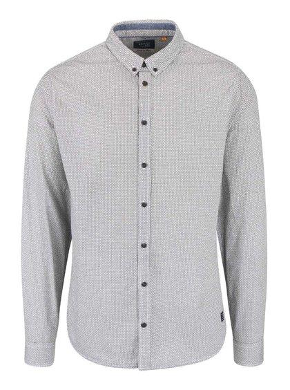 Krémovo-čierna vzorovaná košeľa Blend