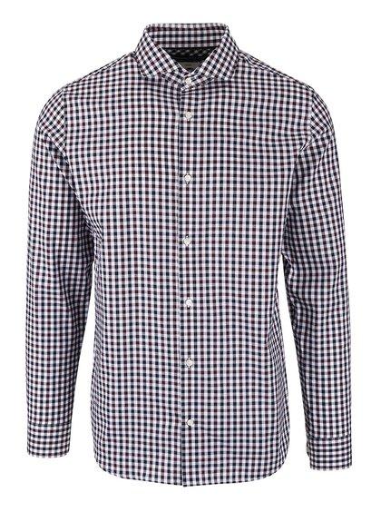 Bielo-vínová kockovaná košeľa Jack & Jones Oscar