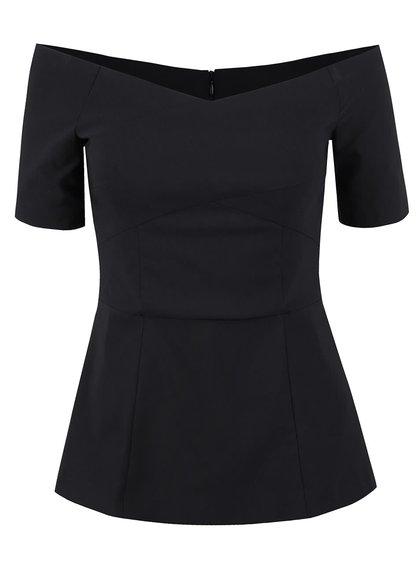 Bluză peplum neagră Miss Selfridge