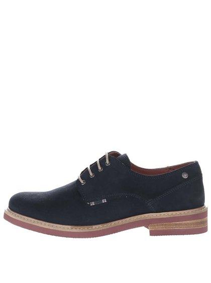 Pantofi negri Jack & Jones Stan din piele întoarsă