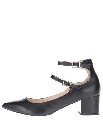 Pantofi negri cu baretă dublă Miss Selfridge